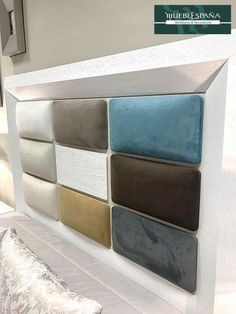 A headboard may be the most essential decor element of any bedroom. You are able to make your very own upholstered headboard! Bed Headboard Design, Cushion Headboard, Headboards For Beds, Headboard Ideas, Küchen Design, Sofa Design, Bed Cushion Design, Bed Back Design, Bed Designs With Storage