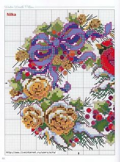 Cross Stitch*♥*Wreaths