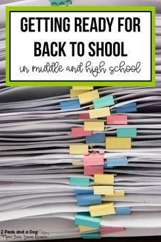 Ideas To Help Prepare For Back To School Fantastic back to school ideas for middle school and high school. Learn about back to school classroom set up, back to school lessons, and education technology from 2 Peas and a Dog. Back To School Night, Back To School Hacks, School Plan, Back To School Activities, School Resources, School Ideas, First Day Of School, School Supplies For Teachers, Back To School Supplies