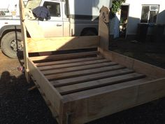 My version of the Oseberg bed.