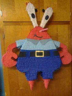Mr. Krabs piñata!! Get yours today at at www.mycasagmc.org or call us at 320-292-2698!!