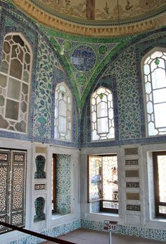 The Privy Chamber of Sultan Ahmed I was constructed in 1608. The walls are adorned with stunning Iznik tiles.  The Imperial Harem is the section of the Topkapı Palace where the most private apartments of the sultan are located. The Harem was home to the sultan's mother, the concubines and wives of the sultan, and the rest of his family, including children, their servants as well as the eunuchs guarding the harem. The Harem consists of a series of buildings and structures, connected through…