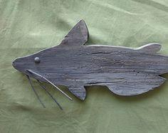 Catfish wooden cutout, wallhanger