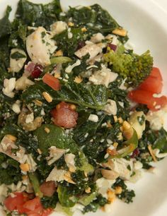Kale, Broccoli, Chicken, and Apple Salad