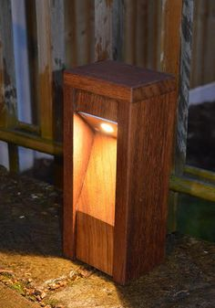 Subtile and descrete wooden Lighting for Paths - Driveway Lights - Pathway Lighting - Bollard & Pole Lights