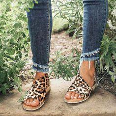 2019 Mostata Women shoes Leopard Low