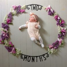 New Baby Pictures Ideas Spring Ideas Monthly Baby Photos, Monthly Pictures, New Baby Pictures, Baby Boy Photos, Two Month Old Baby, Baby Month By Month, Pregnancy Months, Spring Photos, Baby Wall Art