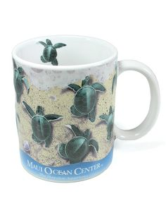 "Own this special 3D coffee mug designed by Dale Zarrella. The most common Honu (Hawaiian for ""sea turtle"") in Hawai'i is the Green Sea Turtle, an endangered and protected species. The Green Sea Turtle"