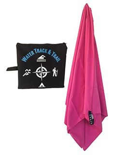 Water Track and Trail G.O. Towel- Your #1 Best Mictofiber Towel – Quick Dry Travel Towel for Camping, Hiking, Backpacking and the Beach – Perfect for Yoga or Gym Towel for Men and Women – Ultra Compact in Sizes Large and Extra Large and Dark Blue, Light Blue, and Pink – Free Mesh Carry Bag – Safe – 100% Satisfaction Guaranteed