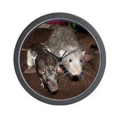 Ratty Buddies Wall Clock