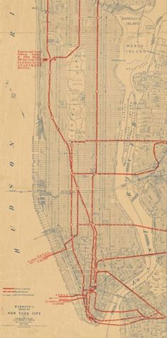 New York City Transit Map, 1917 | by @gletham GIS, Social, Mobile Tech Images