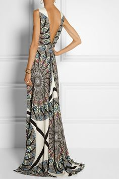 Etro|Embellished printed crepe gown