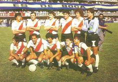 1980 River Plate - Parados: Pasarella , Merlo , Saporiti , Pavoni , Tarantini y…