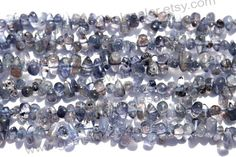 Iolite Smooth Drops Side Drill Quality B / A by GemstoneWholesaler