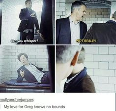 Lestrade is the best. <--- Haha agreed, but can we also talk about how Sherlock is practically catatonic until Lestrade starts yelling and then jumps three feet in the air like he's been electrocuted?// this scene is so hilarious! Sherlock Bbc, Sherlock Fandom, Benedict Cumberbatch Sherlock, Sherlock Quotes, Funny Sherlock, Watson Sherlock, Jim Moriarty, Sherlock Poster, Molly Hooper Sherlock