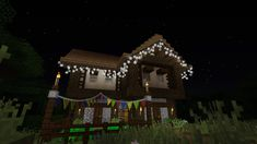 Fairy Lights - Decorate your world with hanging lights and bunting! - Minecraft Mods - Mapping and Modding: Java Edition - Minecraft Forum - Minecraft Forum Minecraft Light, Minecraft Mods, Minecraft Houses, Hanging Lights, Fairy Lights, Java, Bunting, World, Outdoor Decor