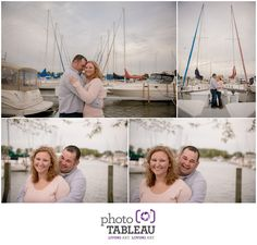 Engagement session at a yacht club for this marina loving couple! We had so much fun.