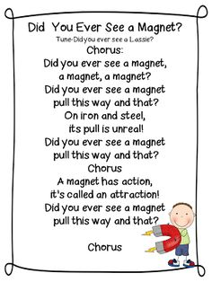 """Song, """"Did You Ever See a Magnet?"""" (from First Grade Wow)"""
