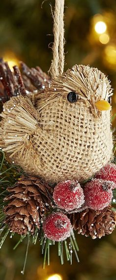 Natural Bird Ornament
