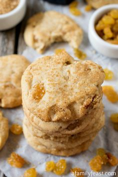 Nanny's Rum Raisin Sugar Cookies - A Family Feast