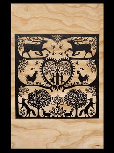 Eco-Friendly Stags and Swifts Cut Paper Fine Art Wood Print Paper Cutting, Cut Paper, Kirigami, Silhouette Artist, Wood Joinery, Arts And Crafts, Paper Crafts, Paper Magic, Wood Burning Art