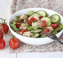 Recette - Salade de concombre, tomates et thon - Notée 4.3/5 par les internautes