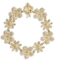 Nadri Crystal Flower Bracelet Looks So Luxurious