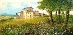 Countryside Farm Painting by Luciano Torsi