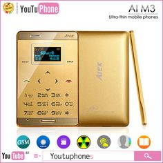 Find More Mobile Phones Information about mini phone Original AIEK M3 Mini Touch Ultra thin Pocket Card Cool Mobile Cell Phone MP3 FM  English Russian French Spanish,High Quality m3 sticker,China phone steel Suppliers, Cheap phone dual sim 3g from Youtuphones Team on Aliexpress.com
