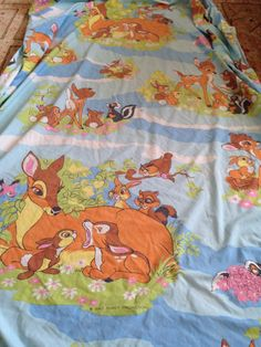 Twitterpated? Vintage Bambi and friends fitted sheet twin