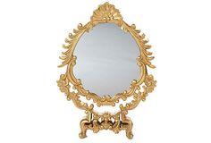 Ornate French Mirror on Decorative Base on OneKingsLane.com