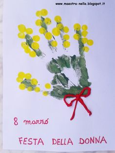 maestra Nella: lavoretti per bambini Painting Activities, Preschool Activities, Diy For Kids, Crafts For Kids, Mather Day, Christmas Classroom Door, Footprint Art, Mothers Day Crafts, 8th Of March