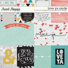 Love Ya Cards by Shawna Clingerman and Studio Basic Designs