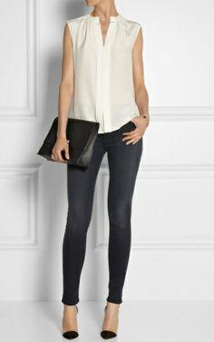 J Brand - 620 Super Skinny Stocking mid-rise jeans Net Stockings, Monica Vinader Bracelet, Sweet Style, Pointed Toe Pumps, Super Skinny, Kenzo, J Brand, Hosiery, Skinny Jeans