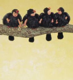 #386 Four Calling Birds (1994) | Anne Geddes