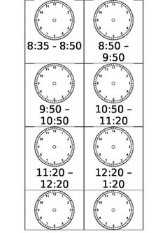 Editable time cards for your daily schedule display with analogue clock