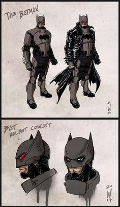 The Batman - concept by W-Orks on DeviantArt Batman Armor, Batman Suit, Batman And Superman, Comic Book Heroes, Comic Books Art, Comic Art, Batman Costumes, Batman Cosplay, Nightwing