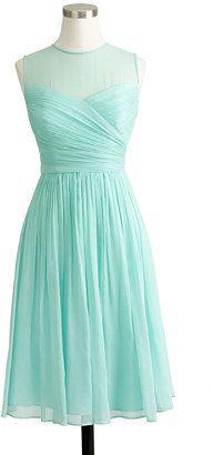 j crew short mint bridesmaid gown