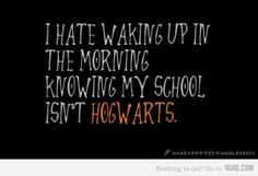 Hogwarts... This is totally Alex!