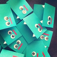 DIY monster cards. Easy to make. For birthdays, halloween or just for fun :) Creative, inspiring & cute.