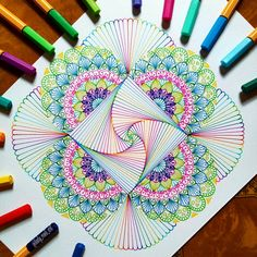 New Drawing Line Flower Zen Tangles Ideas Colorful Art, Art Drawings, Drawings, Mandala, Mandala Design Art, Zentangle Drawings, Plant Drawing, Flower Drawing, Zen Art