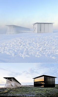 onsomething:  onsomething  Peter Zumthor + Louise Bourgeois |  Winter and  Summer in Steilneset Memorial. Photo by Bjarne Riesto (1 ) |  2