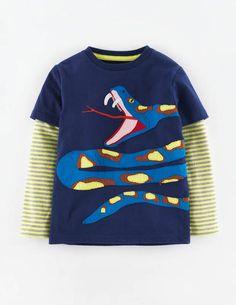 T-shirt Appliqué Grosse Bête 21839 T-shirt à Logo chez Boden