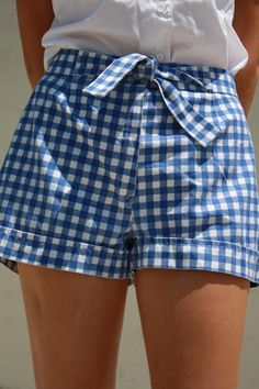 Classic blue and white gingham shorts - these are actually vintage from the Sears Junior line from the 1950s. I love them.