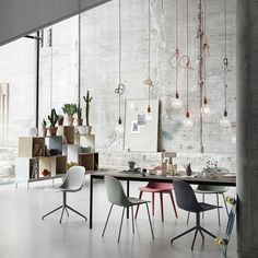 E27 has become a Muuto icon: A striking naked bulb that plays with the subtle aesthetics and simplicity of industrial design. The lamp can be used as a single light source, in pairs, rows or even in clusters to create a modern Scandinavian chandelier. Available in 11 colour variations, E27 is adaptable to any setting, whether in the home, office or other public building.   Designed by Mattias Ståhlbom for Muuto Muuto is rooted in the Scandinavian design tradition characterised by enduring…