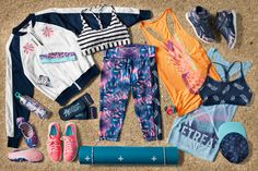 Be workout ready no matter where your vacations take you with bright Reebok gear!