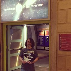 Zoey Sam & I made a trip to Space Command at @franklininstitute Love this place!