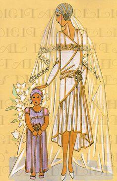 Stunning Fashion Illustration Bride and by DandDDigitalDelights