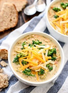 My all-time favorite recipe for delicious Broccoli Cheese Soup! Slow cooker recipe that's super quick and easy. Made with lots of fresh broccoli and cheddar, and always a crowd pleaser! @wellplated