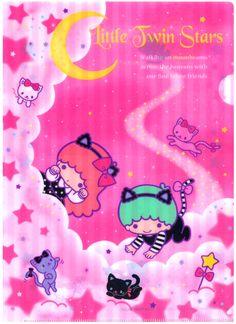 Sanrio Little Twin Stars Kitties Plastic File Folder